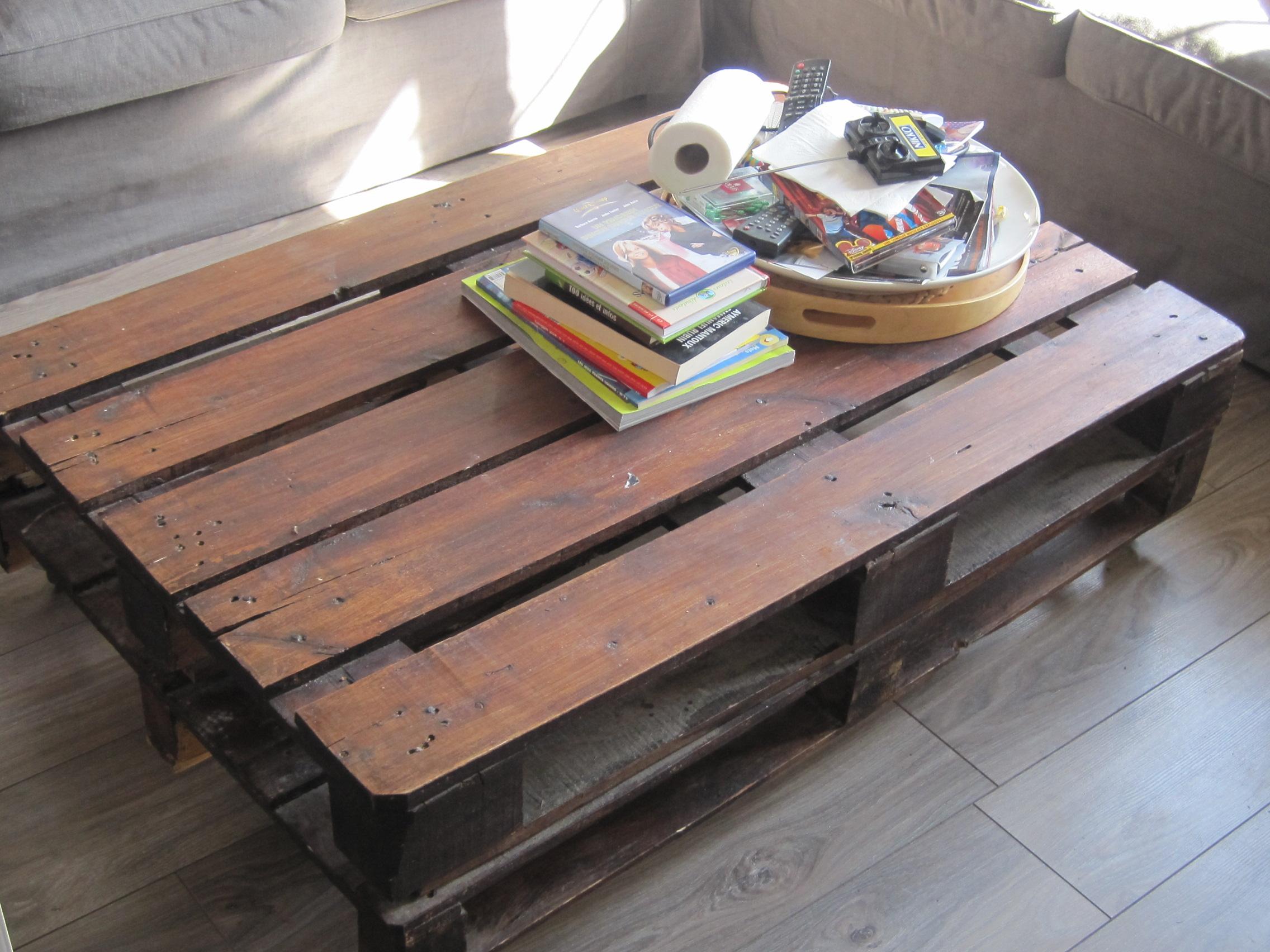 Une table de salon les petits carnets d 39 ella - Ou peut on recuperer des palettes ...