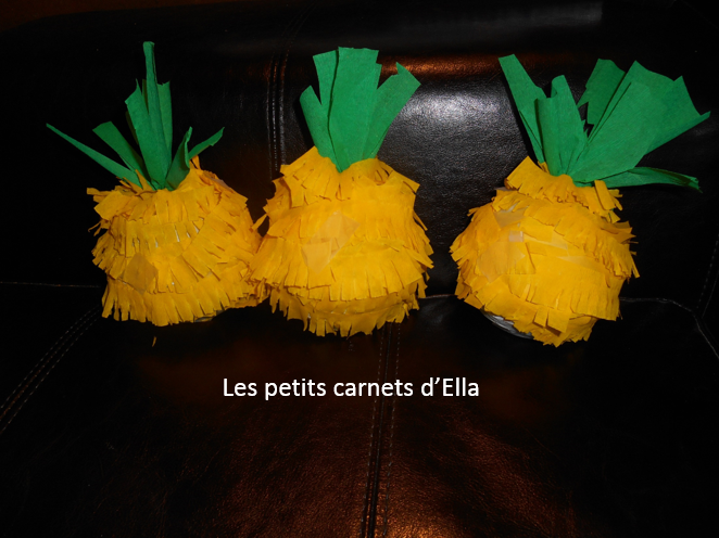 diy comment faire des pinatas ananas les petits carnets d 39 ella. Black Bedroom Furniture Sets. Home Design Ideas