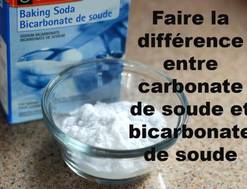 Faire la différence entre carbonate de soude et bicarbonate de soude …