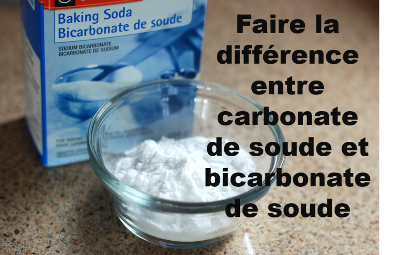 Faire la diff rence entre carbonate de soude et - Bicarbonate de soude et bicarbonate de sodium ...