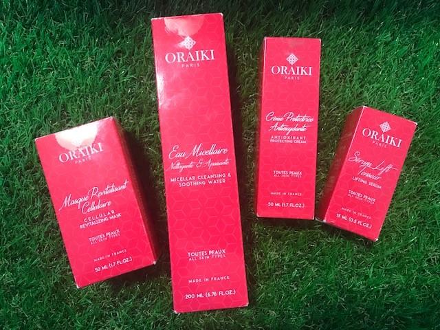 J'ai testé pour vous les produits de beauté ORAIKI Paris